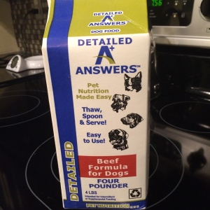 Answers Pet Food detailed beef formula raw food for dogs