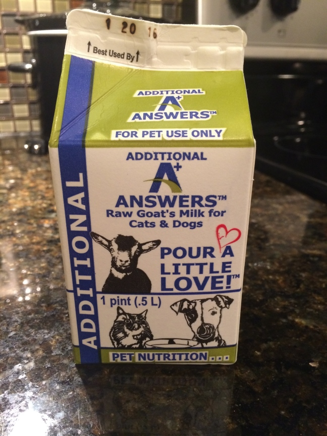 A+ Answers all natural raw fermented goat milk with probiotic curds